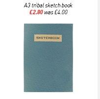 a3 tribal sketch book