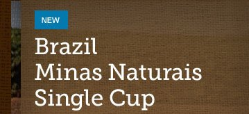 NEW -- Brazil Minas Naturais Single Cup