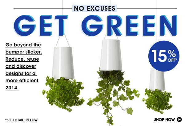 Get Green 15% Off No Excuses