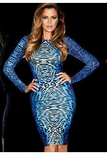 Kardashian Animal Print Bodycon Dress