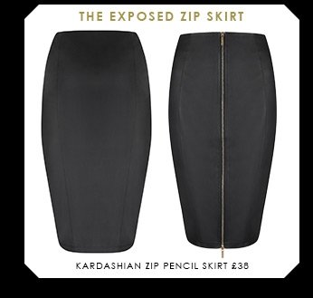 Kardashian Zip Pencil Skirt