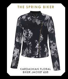Kardashian Floral Biker Jacket