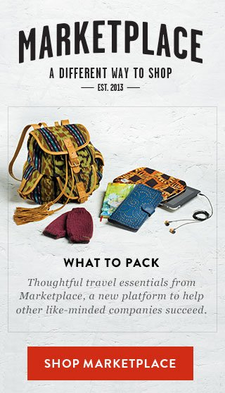 What to Pack - thoughtful travel essentials from Marketplace