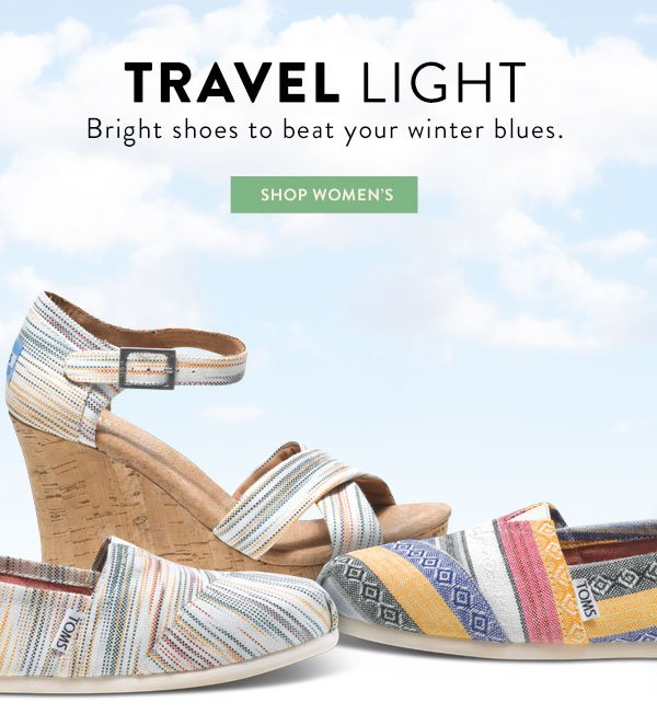 Travel light - bright shoes to beat your winter blues. Shop Women's