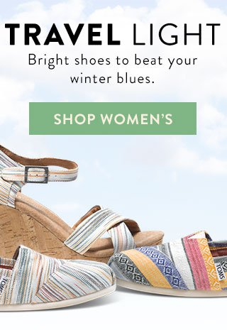 Travel light - bright shoes to beat your winter blues - Shop Women's