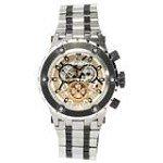 Invicta 12958 Men's Jason Taylor Reserve Black Bezel Silver Dial Steel Bracelet Chronograph Dive Watch