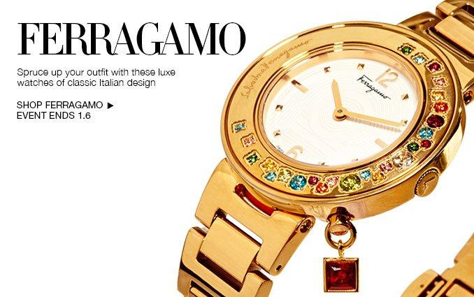 Shop Ferragamo Watches - Ladies & Men's