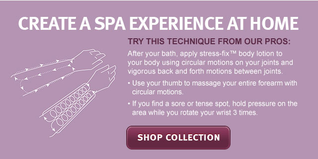 create a spa experience at home. shop collection