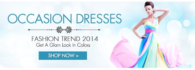 OCCASION DRESSES FASHION TREND 2014 Get a glam look in colors