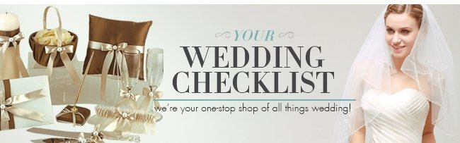 Your Wedding Checklist