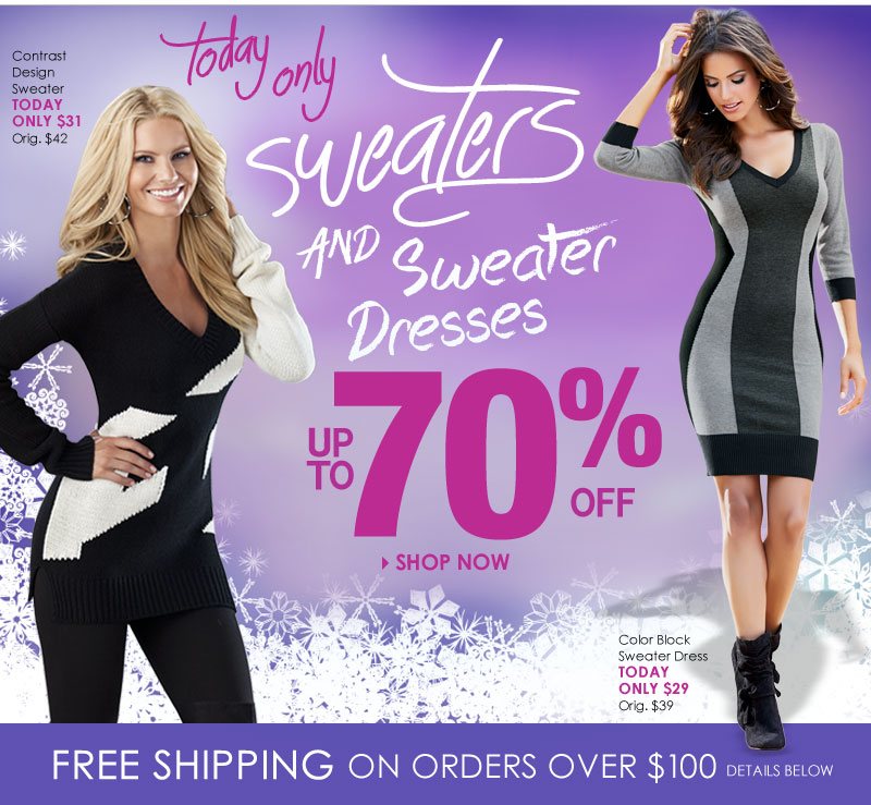 1-Day Sweater Sale (up to 70% off 195+ styles!) - SHOP NOW!