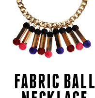 FABRIC BALL NECKLACE