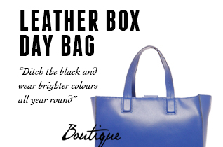 LEATHER BOX DAY BAG