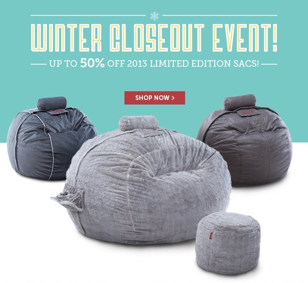 Winter Closeout Event - Up to 50% Off 2013 Limited Edition Sacs!
