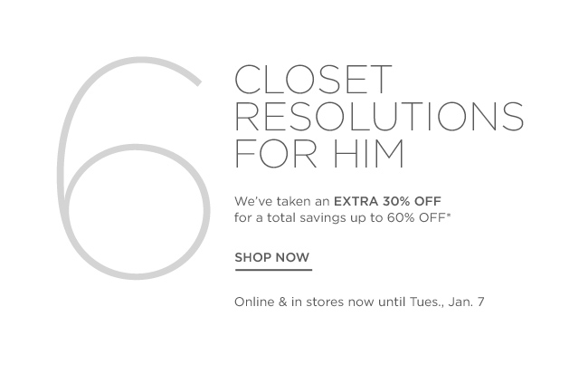 Up to 60% off 6 Closet Resolutions