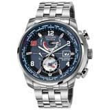 Citizen AT9010-52M Men's Radio Controlled World Time A-T Steel Bracelet Watch