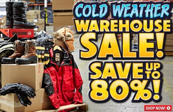 Sportsman's Guide's Cold Weather Warehouse Sale! Save Up To 80%!