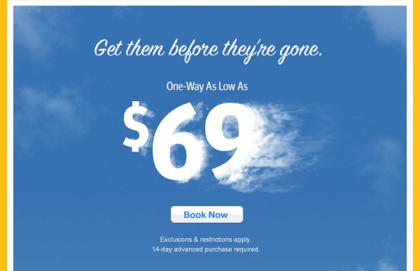 One Way Flights As Low As $69 - southwest.com