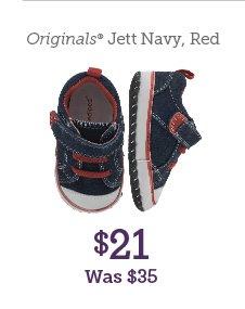Originals Jett Navy, Red $21 Was $35