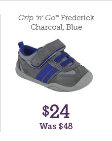 Grip n Go Frederick Charcoal, Blue $24 Was $48