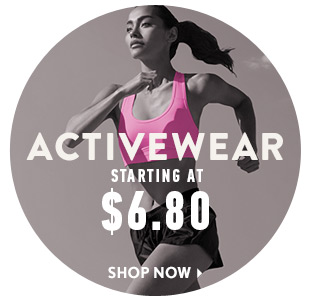 Activewear Starting at $6.80