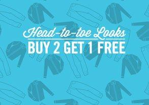 Shop Buy 2 Get 1 Free: Head-to-Toe Looks