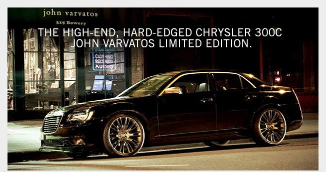 Now Available - The Chrysler 300C John Varvatos Limited Edition