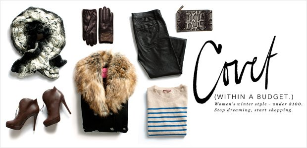 Covet. (Within a Budget.) Winter Style Under $100.
