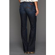 7 For All Mankind Kimmie Bootcut w/ Contoured Waistband in Midnight New York Dark