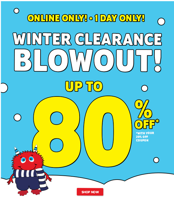 Winter 80% off Blowout Clearance!