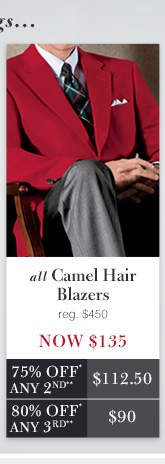 Camel Hair Blazers - Now $135 USD