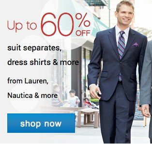 Up to 60% off suit seperates, dress shirts and more. Shop now.