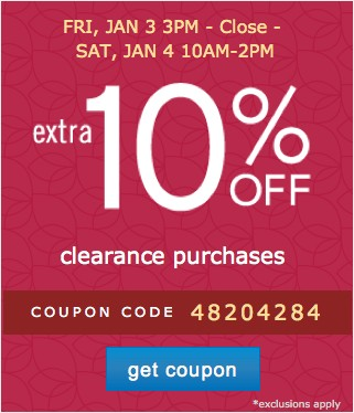 Extra 10% off. Get coupon.