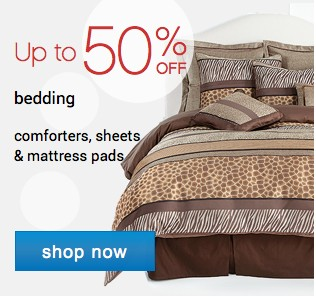 Up to 50% off bedding. Shop now.