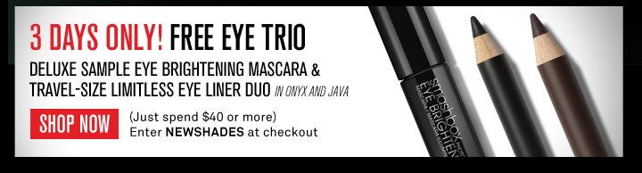 3 Days Only! Free Eye Trio