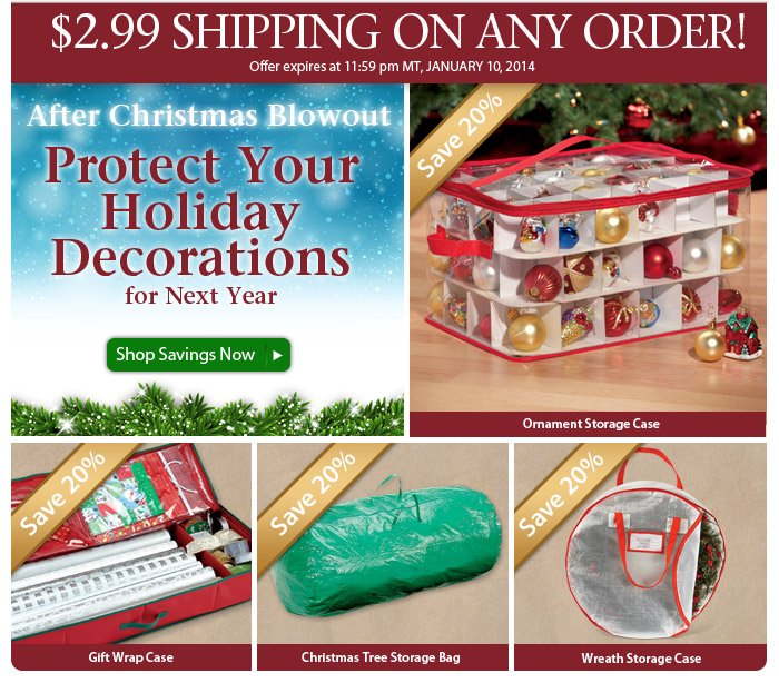 After-Christmas Sale & $2.99 New Year Shipping Special!