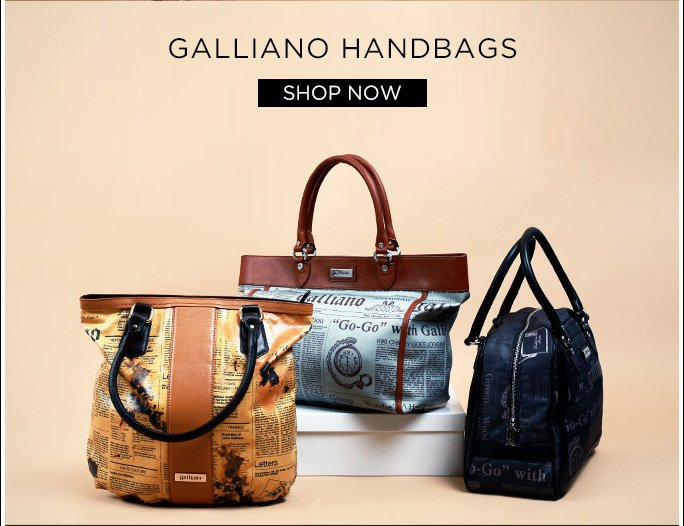 Galliano Handbags. Shop Now