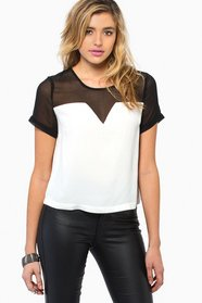 Cathy Contrast Top 30