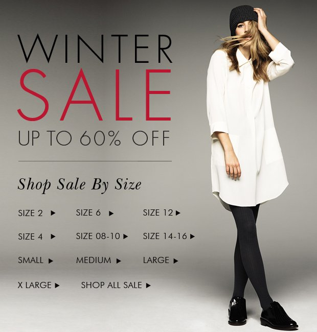 Download Images: Winter Sale: Shop By Size