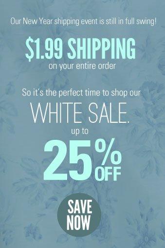 Shop our white sale!