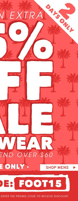 Shop Mens Extra 15% Off Sale Footwear