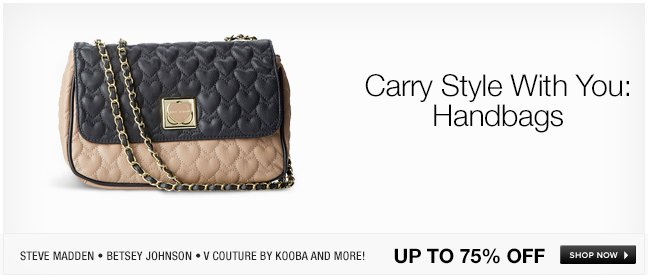 Carry Style With You: Handbags