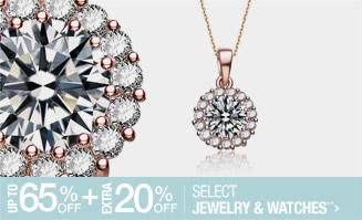 Up to 65% off + Extra 20% off Select Jewelry & Watches**