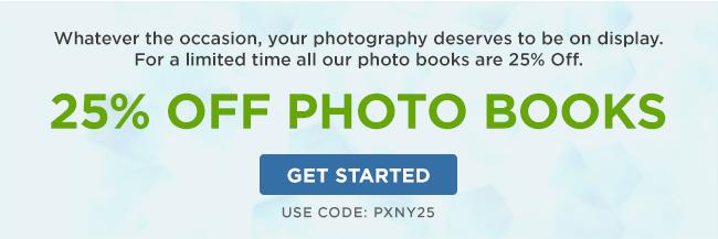 25% off Photo Books!