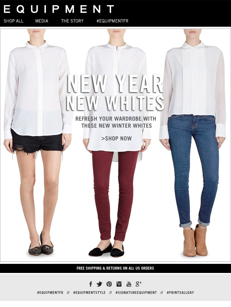 NEW YEAR NEW WHITES REFRESH YOUR WARDROBE WITH THESE WINTER WHITES >SHOP NOW