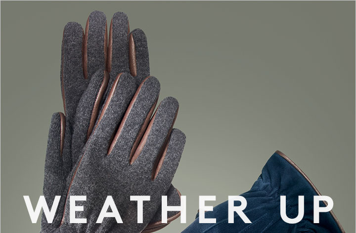 Accessories make the man--especially in the winter. Shop gloves, hats, scarves and more!