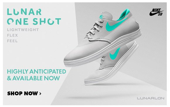 Available Now: Nike SB Lunar One Shot!x