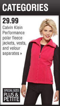 29.99 Calvin Klein Performance separates.