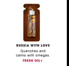 Russia With Love. Quenches and calms with omegas. Fresh Seaberry Moisturizing Face Oil. FRESH OIL.