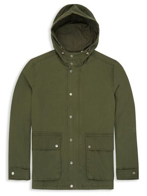 Lightweight Washed Cotton Parka